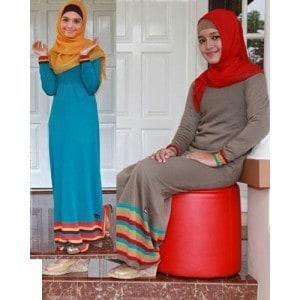 5 Contoh Model Baju Gamis Muslimah 2013