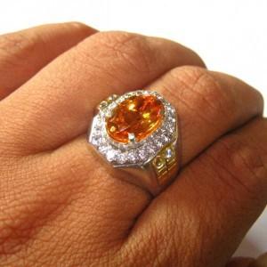 cincin batu citrine natural