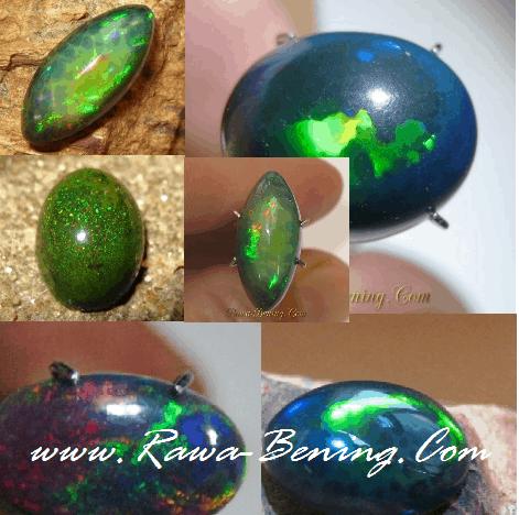 Ciri Kualitas Keindahan Batu Black Opal Asli