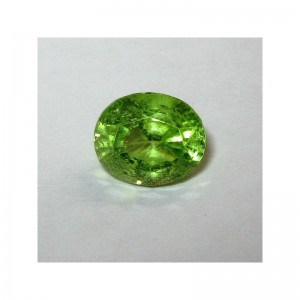 Batu Permata Natural Peridot Oval 1.95 carat Yellowish Green