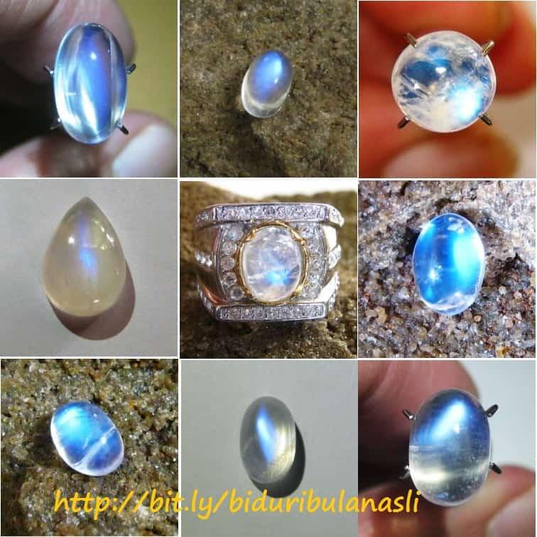 Batu Biduri Bulan Biru Indah Mempesona