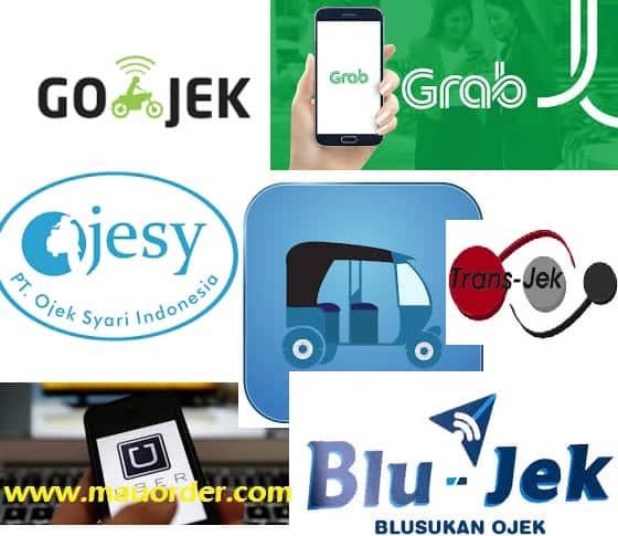 7 Transportasi Online di Jakarta dan Sekitarnya