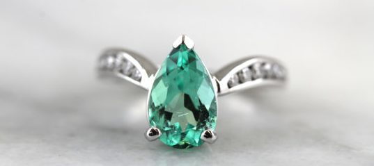 Fine Emerald and Diamond Cocktail Ring