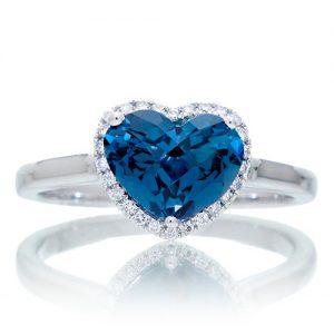cincin topaz london blue bentuk hati