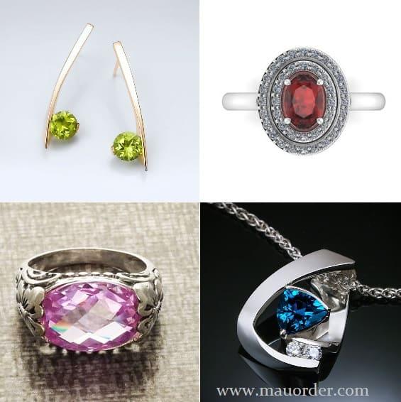 Ide Kreatif Design Perhiasan Permata Asli Alami