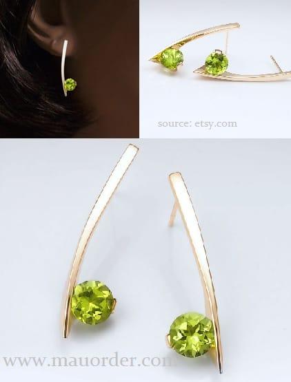 ide perhiasan permata anting emas kreatif
