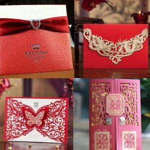 contoh desain undangan pernikahan oriental