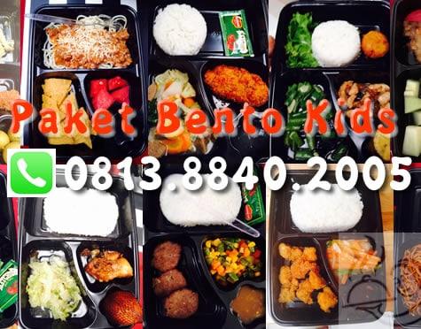 Paket Bento Kids untuk Makan Siang Anak Sekolah